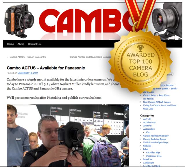 Top 100 Camera Blogs