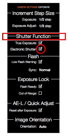 X1D Shutter Function